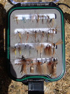 Dry flies- Swissflies Neck flybox fine flies set