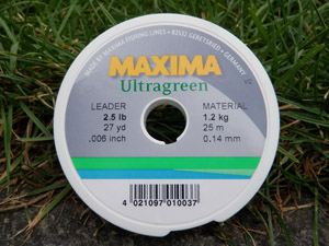 Maxima Chamaeleon butt to Ultragreen tippet